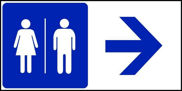 toilettes h f fleche a droite panneaux de signalisation et signaletique. Black Bedroom Furniture Sets. Home Design Ideas
