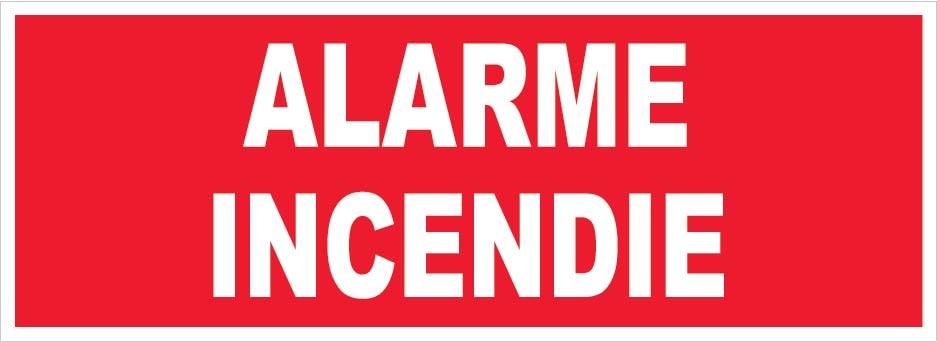 alarme incendie panneaux de signalisation et signaletique. Black Bedroom Furniture Sets. Home Design Ideas