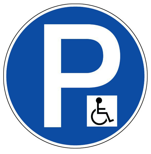 parking reserve aux handicapes panneaux de signalisation et signaletique. Black Bedroom Furniture Sets. Home Design Ideas