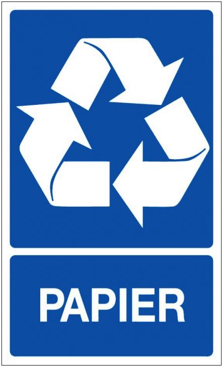 recyclage dechets papier panneaux de signalisation et signaletique. Black Bedroom Furniture Sets. Home Design Ideas