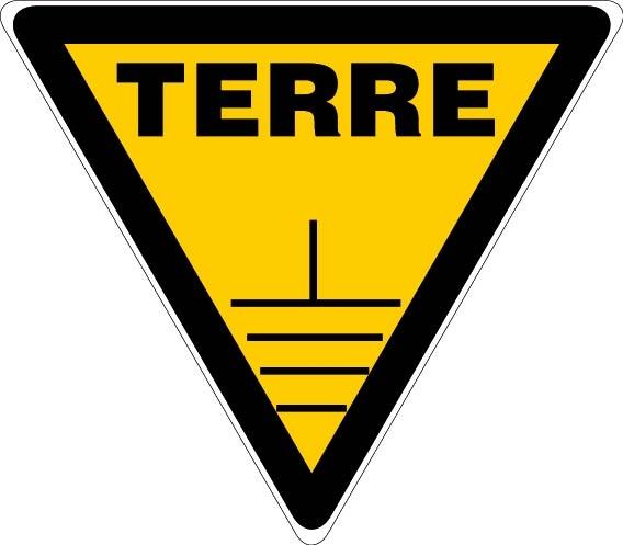 Danger prise de terre panneaux de signalisation et for Piquet de prise de terre